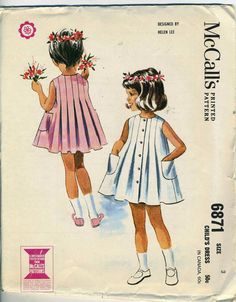 Vintage 60s McCalls 6871 CUT Girls Helen Lee by RomasMaison