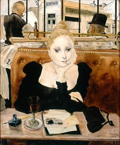 Mélancolie de la buveuse - - Au Café Foujita - - artifexinopere