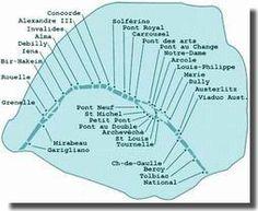 Map of Seine's Bridges
