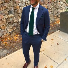 blue and green tie suiting