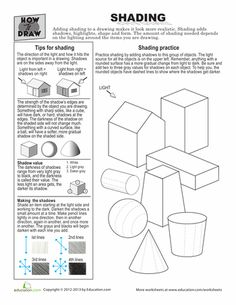 Worksheets: How to Draw Shading