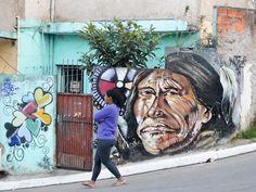 Comunidade quer fazer de favela na zona leste de SP galeria de arte a céu aberto - São Paulo - R7