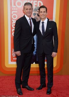 Cute couple: Actor Matt Bomer was joined by husband Simon Halls at the Hollywood premiere