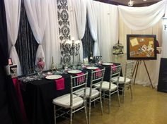 My #booth for the 2015 #Wedding #Odyssey show. This is where I get to show my personality among many other #decorators so I try to keep it a little #funky and different from the rest. I think I nailed it! #Damask will always be one of my #personalfavs