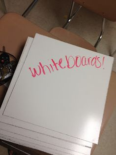 Great tips for whiteboards! How to get your own set cheap, socks for erasers, and baby oil--who knew!