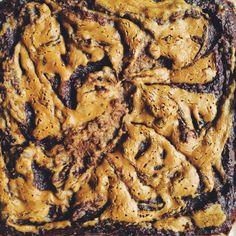 chocolate banana peanut butter vegan brownies (GF)
