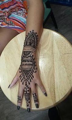 Black Jaguar Henna Ink I free handed in Clearwater, Fl