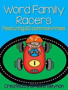 Teachable Moments: Word Family Racers