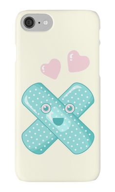 Pastel Happy Plaster by XOOXOO  iPhone Cases & Skins  PHONE CASE FOR IPHONE 4/4S/5/5C/5S/6/6 PLUS/ 7/7 PLUS