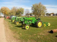 Antique tractor row