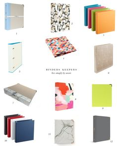 Stylish binders, just in time for back-to-school!