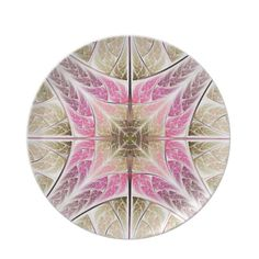 #Pink, #brown #fractal #dinnerplate  See more #gifts here http://www.zazzle.com/zazzleproducts1?rf=238228936251904937%3DzBookmarklet