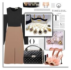 """""""Golden Tree Genuine Pearl Necklace"""" by timelesspearl on Polyvore featuring Vanity Fair, TIBI, Miu Miu, Valentino, Lancôme and HUGO"""
