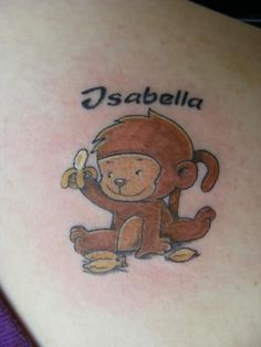 Cute Baby Monkey Tattoos For Women Images & Pictures - Becuo Small Shark Tattoo, Cute Thigh Tattoos, Small Girly Tattoos, Small Dragonfly Tattoo, Cute Girl Tattoos, Small Forearm Tattoos, Girl Arm Tattoos, Tatoos, Sweet Tattoos