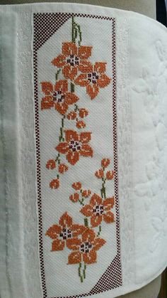 This Pin was discovered by Şef Cross Stitch Art, Cross Stitch Borders, Cross Stitch Samplers, Cross Stitch Flowers, Cross Stitching, Cross Stitch Embroidery, Embroidery Patterns, Hand Embroidery, Cross Stitch Patterns