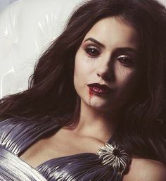 "Vampire Elena Gilbert in ""The Vampire Diaries""."