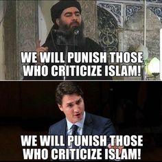 Sharia in Canada. an admirer of is rapidly filling thinly populated Canada with islamists. Trump's wall is on the wrong border. Trudeau Canada, Liberal Logic, Political Memes, Justin Trudeau, Social Issues, Atheist, Wake Up, In This World, Islam