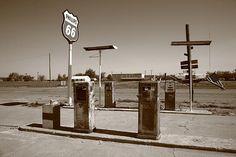 Route 66 Gas Pumps, Adrian, Texas