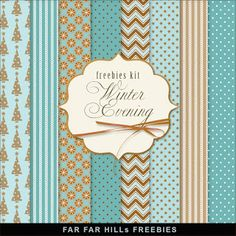 New Freebies Kit of Paper - Winter Evning Repinned by molliecoxbryan.com