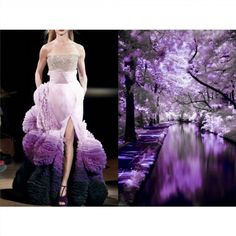 """Blog PHOTO & L' ART • Givenchy S/S 2010 • & • """"Infrared Waterway"""", Augustine Hills, Wilmington (USA). Photo by Floyd Dean (www.flickr.com/floyddean) • Dress: @givenchyofficial ______________________ #LiliyaHudyakova #fashionart #Givenchy #hautecouture #purple #landscape"""