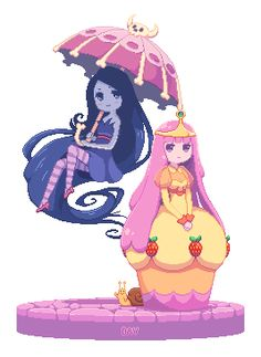 Gif Marceline and Princess Bubblegum