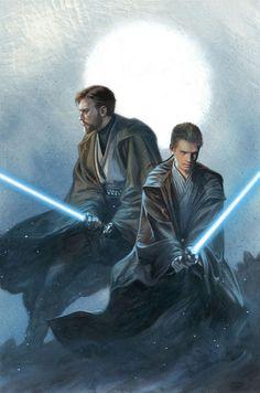Obi-Wan KENOBI and Anakin SKYWALKER | By Gabriele DELL'OTTO (MARVEL Comics) | STAR WARS : Comics