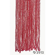 Red Razzle Dazzle Beads from oriental trading - $8.50 for 48 pieces - girls could wear with vest, skirt and white shirt for costume