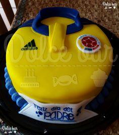 Pastel playera de fútbol Colombia/ t-shirt Colombia cake