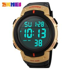 Skmei Luxury Brand Mens Sports Watches Dive 50m Digital LED Military Watch Men Fashion Casual Electronics Wristwatches Hot Clock Love it?  #shop #beauty #Woman's fashion #Products #Watch