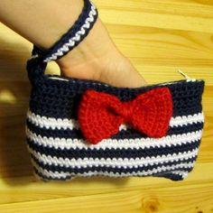 crochet wristlet patterns | NEW Sailor Wristlet crochet pattern by Ana Paula Rimoli