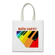 ★SOLD! #Keyboard #Music #Party #Colors #Tote #Bag ★ - by BluedarkArt on #Zazzle - $10.95 -  Many Thanks to the Buyer(ツ)  http://www.zazzle.com/keyboard_music_party_colors_tote_bags-149352758700376789