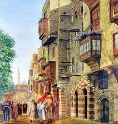 Cairo ,1930  Friedrich Frank (Austrian 1871-1945) watercolor 41.9 cm x 39.4 cm