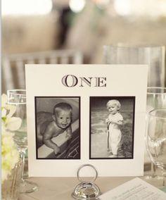 Wedding idea for each table!
