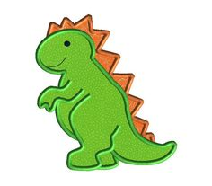 Dino Applique Machine Embroidery Design-INSTANT by SewChaCha