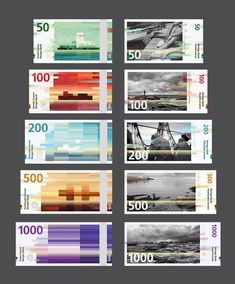 Norway's central bank has selected pixellated designs by Oslo design studio Snøhetta to feature on the back of the country's new banknotes.