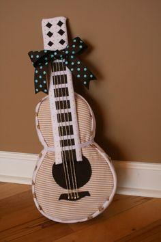 polka dot pix gal: guitar diaper cake for baby Jack