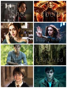 The Hunger Games, The Mortal Instruments, The Maze Runner, Harry Potter.
