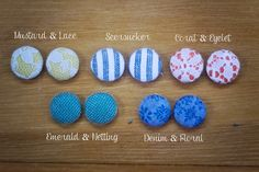 Homemade Fabric Earrings by Suzie Studios {want}