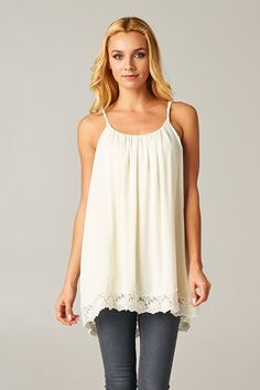 Delphine Camisole Top in Ivory | Awesome Selection of Chic Fashion Jewelry | Emma Stine Limited