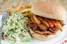 Slimming Eats Low Syn Slow Cooker Pulled Pork Sandwich - dairy free, Slimming World and Weight Watchers friendly