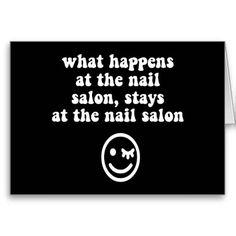 Funny nail salon cards