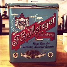 Original vintage German chocolate tin. The packaging is just as delicious as the product. Auckland.