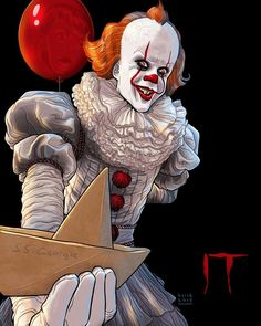 """You'll float too."" It fan poster will float Le Clown, Creepy Clown, Scary Movies, Horror Movies, Horror Drawing, It The Clown Movie, Fan Poster, Horror Artwork, Pennywise The Dancing Clown"