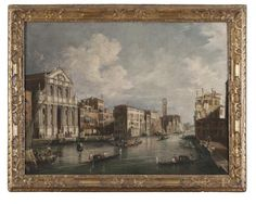 FRANCESCO GUARDI, att. to (Venice 1712 - 1793) VIEW OF GREAT CANAL WITH CHURCH OF THE [...], Fine Art & Antiques à Casa d'aste Babuino   Auction.fr