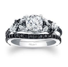 20 Gorgeous Black Diamond Engagement Rings | http://www.deerpearlflowers.com/20-gorgeous-black-diamond-engagement-rings/