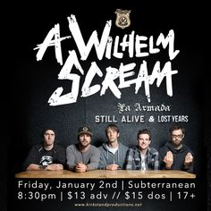 I just entered to win free tickets for A Wilhelm Scream at Subterranean in Chicago, IL on January 2nd from For the Love of Punk!!