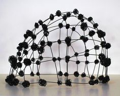 "Wire Dome II  (c) Barbara Gilhooly  annealed steel wire  16"" x 24"" x 22"""