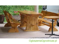 Meble ogrodowe, Wszelkie elementy drewniane w ogrodzie: ławki, stoły, pergole, trejaże, tarasy. Szeroki wybór drewna. Meble wg indywidualnych projektów.