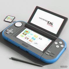 Nintendo DS Micro by Leighton McDonald, via Behance Nintendo 3ds, Nintendo Switch Games, Nintendo Consoles, Super Nintendo, Ps Wallpaper, Videogames, Video Game Rooms, Video Game Memes, Game Room Design