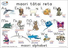 Maori alphabet with pictures